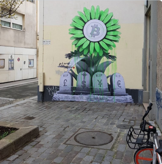 Crypto Graffiti: A Positive Sign of People's Approval of Cryptocurrency